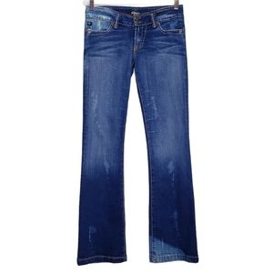 Serfontaine Distressed Bleached Bootcut Jeans 29
